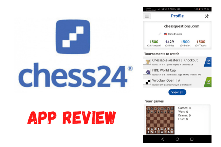 Chess24 App Review – (Tournaments, Analysis, Trainer, Watch)