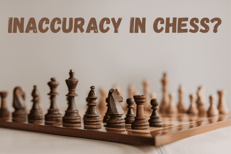 Inaccuracy in Chess: Not the Worst Move but One to try to Avoid.